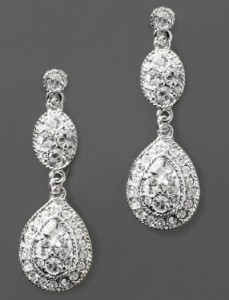 Givenchy Crystal Drop Earrings.  $50