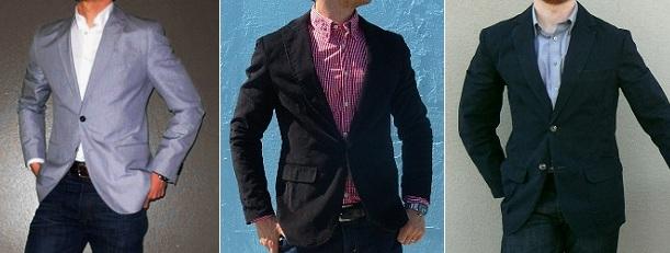 Uniform de blazer en jeans
