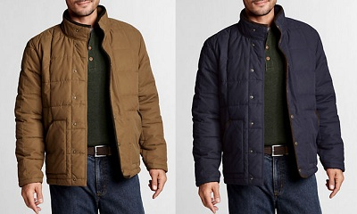 Corduroy along the back collar is a nice touch.