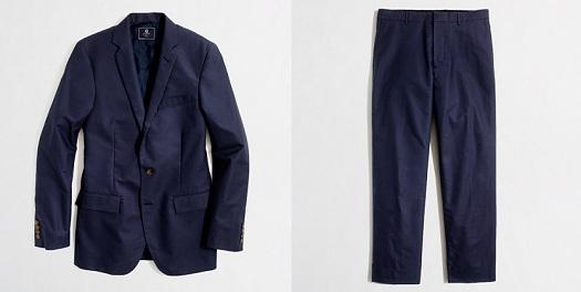 factory pique suit