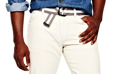Jumping the white pant gun with a fall fabric.