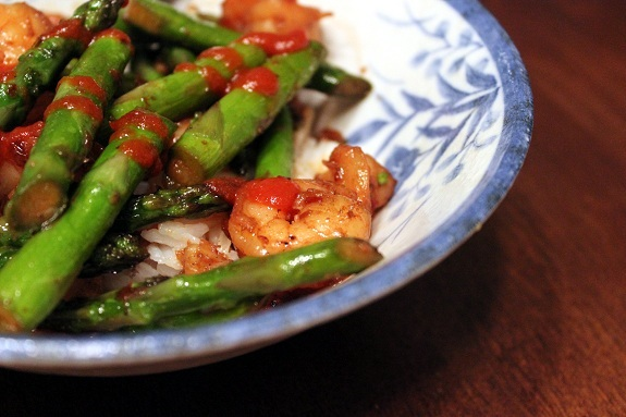 MIFYD Shrimp Asparagas with Siracha