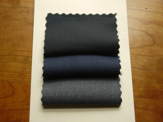 Navy, midnight sharkskin, charcoal gray.