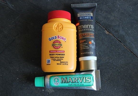 Refresh gold bond and toothpaste