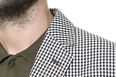 Cotton check blazer