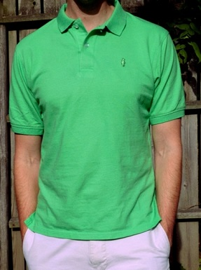 collared greens made in the USA polo