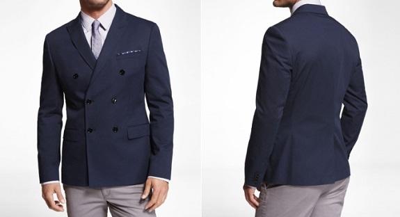 cotton DB blazer from Express