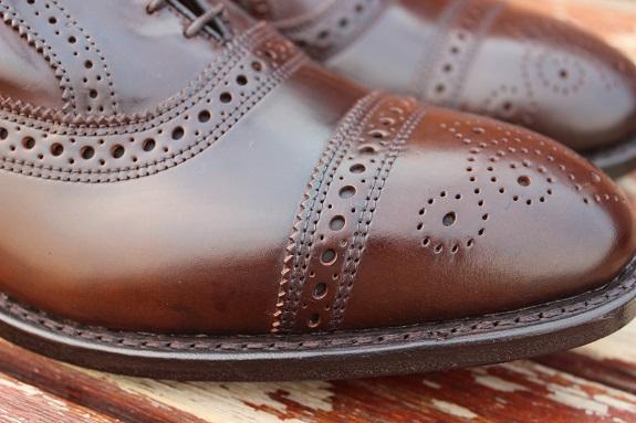 Cordovan leather close