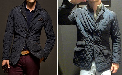 massimo dutti quilted jacket 2013