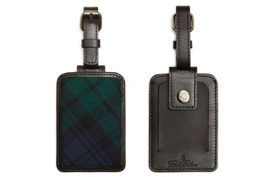 BB luggage tag on Dappered.com