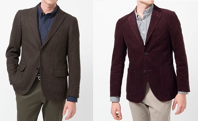 Uniqlo Blazers fall 2013 tweed and cord