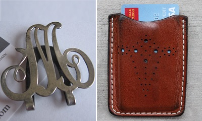 money clip card case combo