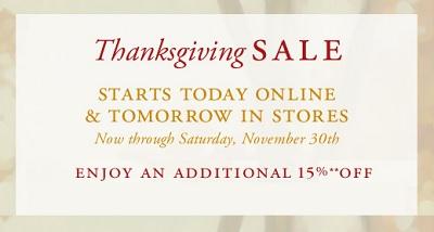 BB thanksgiving sale 2013