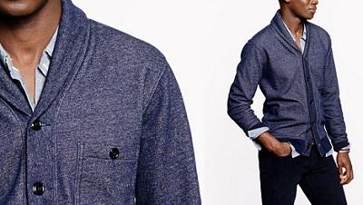 Shawl sweatshirt