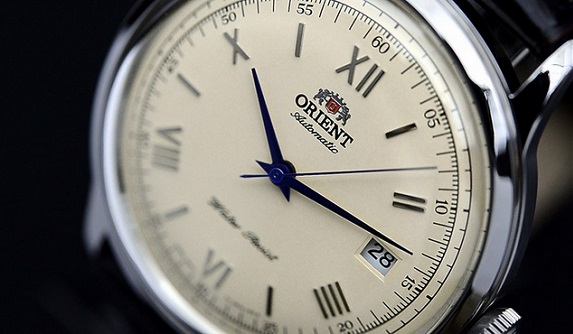 Orient Vintage Bambino Blue hands model on Dappered.com