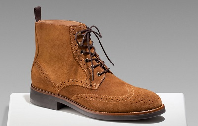 MD Suede Wingtip Boot on Dappered.com