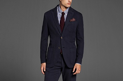 MD Herringbone Cotton Cashmere Blazer on Dappered.com