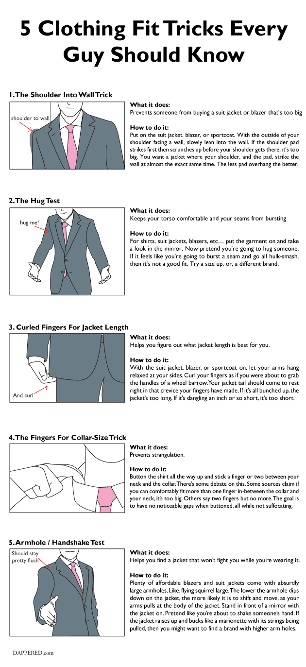 5 Clothing Fit Tricks by Dappered.com
