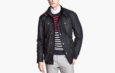 H&M Waxed Cotton Jacket / Dappered.com
