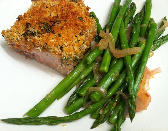 Crispy Porkchop and Asparagus - Make It For Your Date by Dappered.com