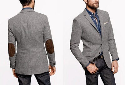 Tweed with elbow patches