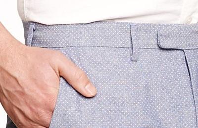 Chambray Dot Pants