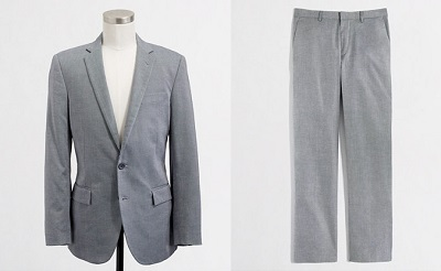 New J. Crew Factory Thomspon Oxford Suit on Dappered.com
