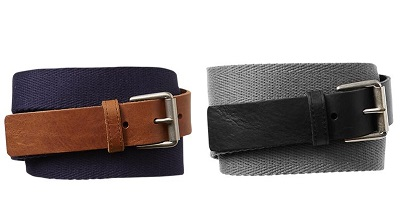 GAP mixed media belts on Dappered.com