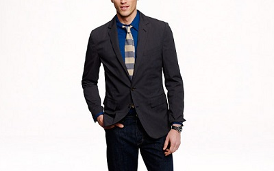 Microstripe blazer