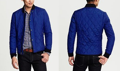 BR Quilted Blue Bomber on Dappered.com
