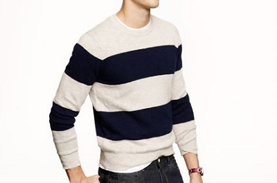 Rugby Stripe Cotton Sweater on Dappered.com