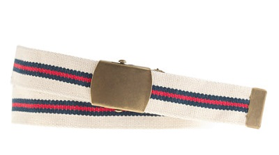 Striped summer belt