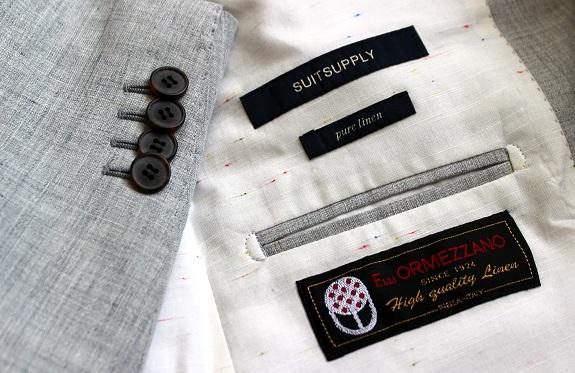 Suitsupply linen lining / Dappered.com