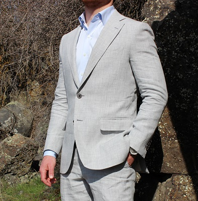 Suitsupply Grey Linen Suit on Dappered.com