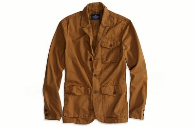 AE field jacket in warm brown on Dappered.com