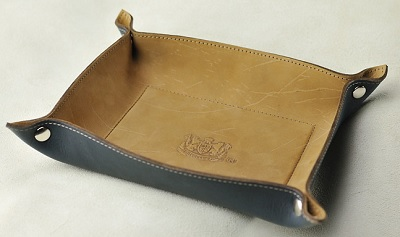 Mitchell leather valet tray on Dappered.com