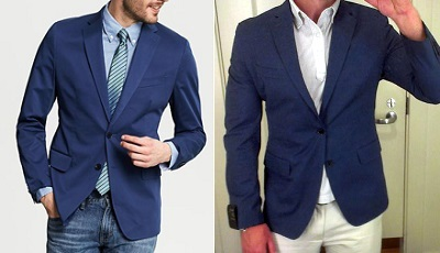 BR sateen lighter blue blazer on Dappered.com