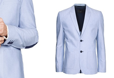 H&M Half Lined Blue Cotton Blazer - part of this month's Most Wanted Affordable Style on Dappered.com