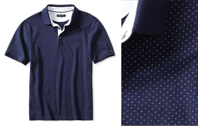 BR Pin-Dot Polo in Navy Star on Dappered.com