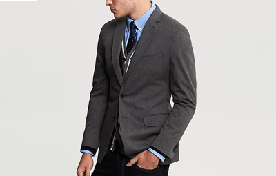 BR Tailored Charcoal Twill Blazer on Dappered.com