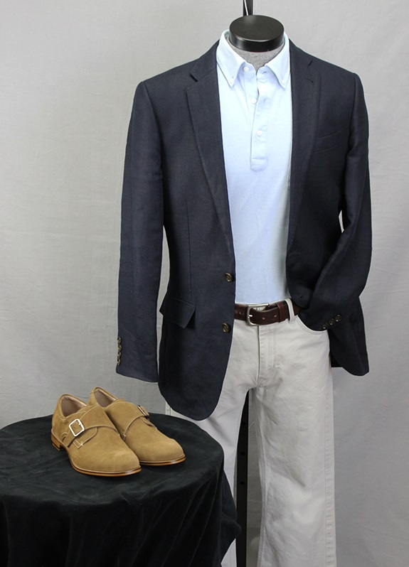 Aston Grey Suede Monks with Business Casual