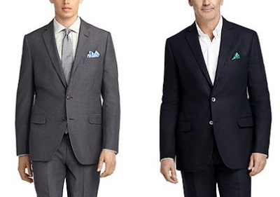 Brooks melange and linen suits on Dappered.com