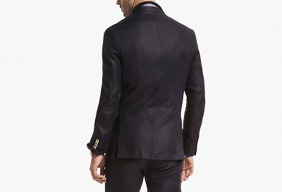 Massimo Dutti linen suit in navy on Dappered.com