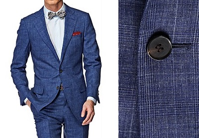 Suitsupply napoli check blue on Dappered.com