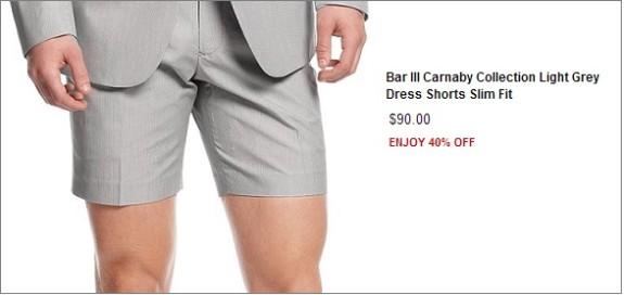 macys bar III short suits