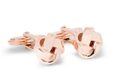 rose gold plated knots on Dappered.com