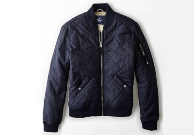 American Eagle Quilted Bomber - Autumnal Temptations on Dappered.com