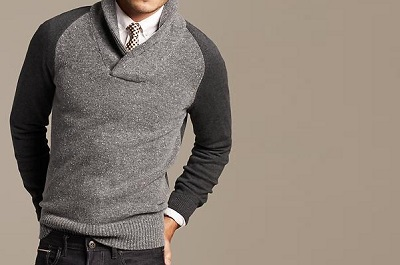 BR Tweed Shawl Collar Pullover - Autumnal Temptations on Dappered.com
