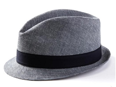 BR Cotton Linen Fedora on Dappered.com